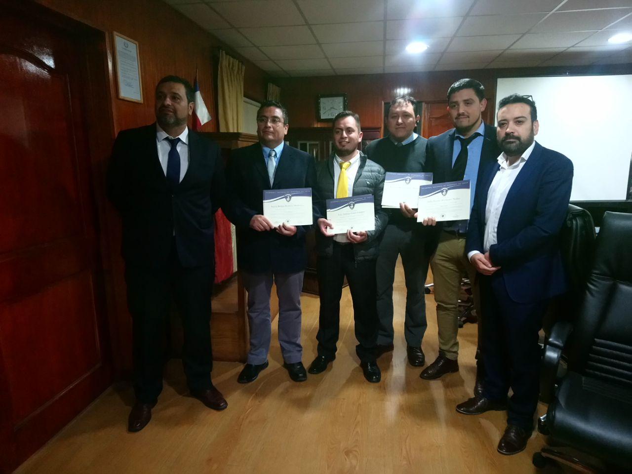 Entrega diplomas Bomberos Profesionales