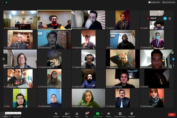 Reunión de compañía virtual, para conmemorar 169 años de vida institucional
